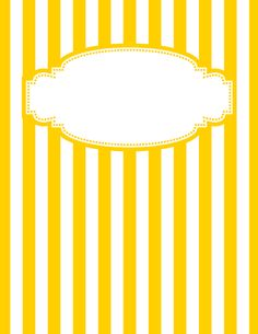 Free printable yellow and white striped binder cover template. JPG and PDF versions available. Printable Binder Covers Free, Binder Cover Templates, Free Printable, Printable Calendars, Eid Stickers, Paper Binder, Home Management Binder, Notebook Covers, Borders And Frames