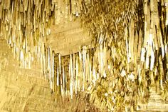A previous Confettisystem tapestry in shredded Mylar backed by canvas. Photo courtesy of Confettisystems.