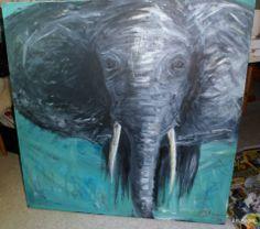elephant acrylic painting