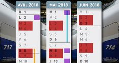 Notre calendrier pour, en un coup d'œil, organiser vos déplacements en fonction des jours de grève, des vacances et des jours fériés