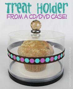Covered Treat Holder Made From a CD or DVD Container! a