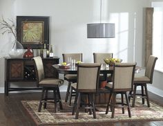 Westwood 7Pcs Counter Height Dining Set with Swivel Chair 626