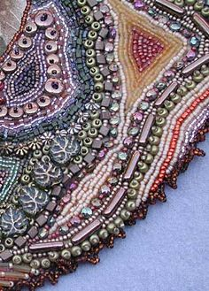 E-mail Larkin to book Beadwork for Fabric Artists for your guild or shop!    larkinart.com