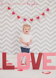 Valentine's Day Photography Prop Burlap Banner with Hearts. $26.00, via Etsy. @Shelley Ackerly, these could be easily made!