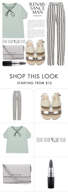 """""""Captive Lifestyle"""" by sweet-jolly-looks ❤ liked on Polyvore featuring Nicholas, Chicnova Fashion, Maison Margiela, MICHAEL Michael Kors, MAC Cosmetics, Summer, Spring, SimpleOutfits, simple and neutral"""