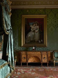 One of the grand rooms at Harewood House in Yorkshire: a State Bedroom, reserved for visiting royalty or heads of state, was very much the fashion in a grand 18th century country house.