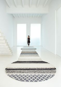 Gan Rugs | Awesome giant knit rug | natural fine wool