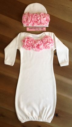 Newborn Girl Take Home Outfit Couture White by BabicakesCouture