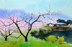 봄 이야기 watercolor by insung Jung