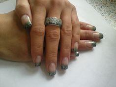 Nails&Ring schwarz/silber/grün   by Cátia