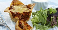 These cheesy lentil pies by will satisfy your meat-free cravings while packing a flavourful punch. Full of protein and vegetable goodness, they're also perfect for little hands. Lasagne Recipes, Pie Recipes, Bean Recipes, Vegetarian Lasagne, Vegetarian Cooking, Vegetarian Recipes, Healthy Recipes, Chicken And Mushroom Pie