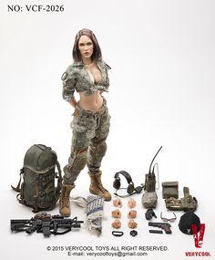 "Custom 1//6 Scale Fire Girl Toys Woman Combat Battle Dress Uniform Fit F 12/"" Toys"