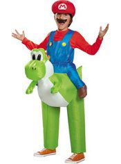 Boys Mario Yoshi Ride-On Costume - Super Mario Brothers Halloween Kostymer  För Barn 1460e01016d29