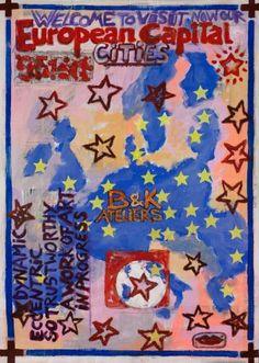 "Saatchi Art Artist Borai Kahne Ateliers; Painting, ""European Capital Cities"" #art"