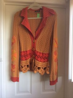 beautiful Michael Simon crochet sweater