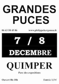 Grandes puces de Quimper. Du 7 au 8 décembre 2013 à Quimper.