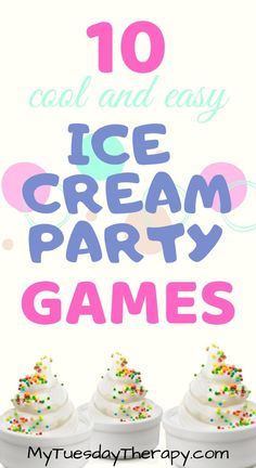 Host a fun ice cream party with these ideas. Birthday party games for girls. A fun summer party. Host a fun ice cream party with these ideas. Birthday party games for girls. A fun summer party. Ice Cream Games, Ice Cream Theme, Diy Ice Cream, Best Ice Cream, Ice Cream Party, Summer Party Games, Kids Party Games, Birthday Party Games, Fun Games