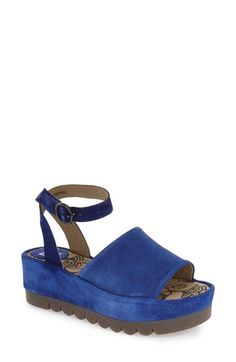 Fly London 'Booz' Ankle Strap Platform Sandal (Women)