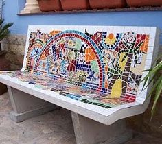 mosaic bench images | Stone benches for the garden. | Ideas for Home Garden Bedroom Kitchen ...