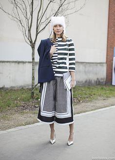 ✮Olga Sorokina in Paris at PFW wearing: •Pants Céline •Shirt Céline •Jacket Céline