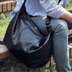 Shoulder bags for school Mens messenger bag Black Brown 002
