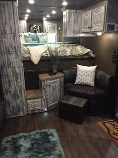 This is what I want my camper bedroom to look like....Tres Chic
