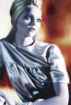 Sasha Pivovarova/Prada Spring Summer 2007 #millinery #turban #judithm