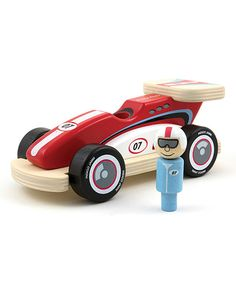 Racing Rocky on #zulily | wooden race car toy