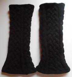 Jambières à torsades plat Plus Leg Warmers, Mittens, Socks, Wool, Knitting, Accessories, Style, Costumes, Fashion