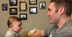 Oje: Baby erkennt Papa ohne Bart nicht mehr! #News #Unterhaltung