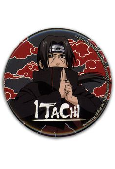 Department is Clothing, Jewelry, Button/Brooch. Primary color is Black. Publisher is GE Animation. Series is Naruto Itachi, Naruto Shippuden, Lucky Day, Anime Merchandise, Cute Pins, Primary Colors, Color Schemes, Congratulations, Great Gifts