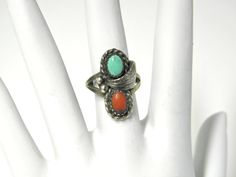 Vintage Southwestern Turquoise and Coral by SilverStonesConcepts, $50.00