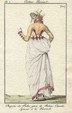 (9 avril 1799) 101 Négligé à l Iphigénie Dans l ex de l Opéra la pl 101 porte comme légende - Chapeau de paille garni de rubans cannelés Spencer à la hussarde