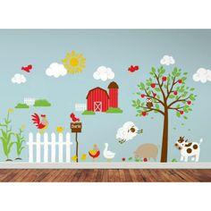 Farm Scene Wall Decal Set