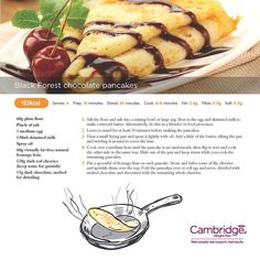 Cambridge weight plan  receipt, how to make healthy pancakes.