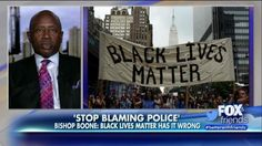 "Best-selling author and Christian pastor Bishop Wellington Boone joined ""Fox & Friends"" as a guest Wednesday to discuss his views on how blacks, not police officers, are to blame for violence in African-American communities."
