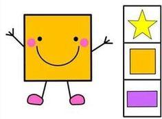 Preschool Classroom, Preschool Worksheets, Classroom Themes, Shape Games, Learning Methods, Shape Matching, Rainbow Theme, Teaching Aids, Pre Writing