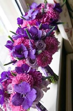 gorgeous purple wedding flower bouquet, bridal bouquet, wedding flowers, add pic source on comment and we will update it. www.myfloweraffair.com can create this beautiful wedding flower look.