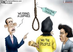 Where there's a will, Obama will find a way to attack legal gun owners and the 2nd amendment. Political Cartoon by A.F.Branco ©2015.