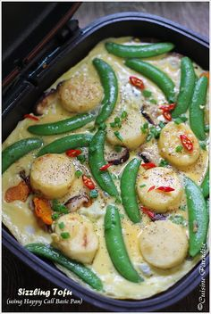 Cuisine Paradise | Singapore Food Blog | Recipes, Reviews And Travel: Happy Call Pan Recipes - Baked Sweet Potato, Sizzling Tofu and Claypot Rice