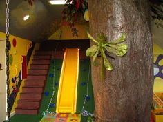 Climbing wall, swings, soft mats...sure it's sensory, but it's FUN for all ages and can look great in your house. Your only limitation is your imagination. Floorscore.com