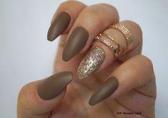 Dark Nude matte Stiletto Nails Stiletto nail by FifeFantasiNails