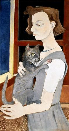 Neş'e Erdok (Turkish, b. 1940) - Woman and cat, 2013 - Oil on canvas