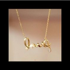 Love necklace GOLD Please don't purchase this listing, I will happily create new listing for you. No pp no trades. Price firm unless bundled at 10% off. Gold tone, silver also available. Statement Jewelry