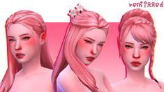 hair in noodles sorbet remix ! updated in the noodles remix :) comes in 76 sorbet remix colors as ADD ON swatches! which means mesh is NOT included(from left to right: peach (no bun) →. Sims 4 Cc Packs, Sims 4 Mm Cc, Sims 4 Game Mods, Sims Mods, Sims 4 Gameplay, Play Sims, Sims Hair, Sims 4 Cas, Sims 4 Clothing