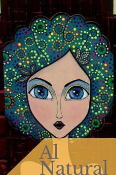 Al Natural #complementwo #arte #decoracion #mdf #mujer #cuadro #pintura #puntillismo #mandala