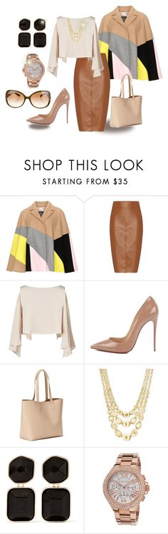 """""""Splash of colour"""" by healou ❤ liked on Polyvore featuring Persona, Bailey 44, Leka, Christian Louboutin, Old Navy, Marco Bicego, Kenneth Jay Lane, Michael Kors, Tory Burch and fashionista"""