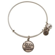 Live in the Moment Charm Bracelet | Alex and Ani Alex And Ani Jewelry, Alex And Ani Bracelets, Bangle Bracelets With Charms, I Love Jewelry, Tomorrow Is Not Promised, Nail Accessories, Alex Ani, In This Moment, Stage