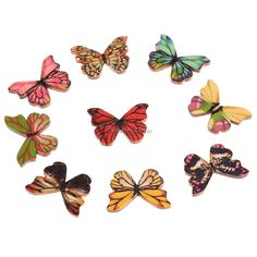 50Pcs Colorful Mixed Butterfly Wooden Buttons 2 Holes Fit Sewing And Scrapbook 28x20mm Sewing Buttons For Craft DIY Mixed ** To view further for this item, visit the image link.