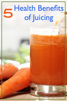 There are a variety of health benefits of juicing. They are a great source of nutrients providing loads of antioxidants to help improve the immune system.